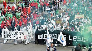 Manifestação anti-austeridade em Bruxelas