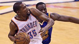 Thunder thrash Warriors to edge towards NBA final