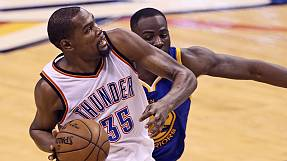 Thunder thrash Warriors to edge towards NBA final