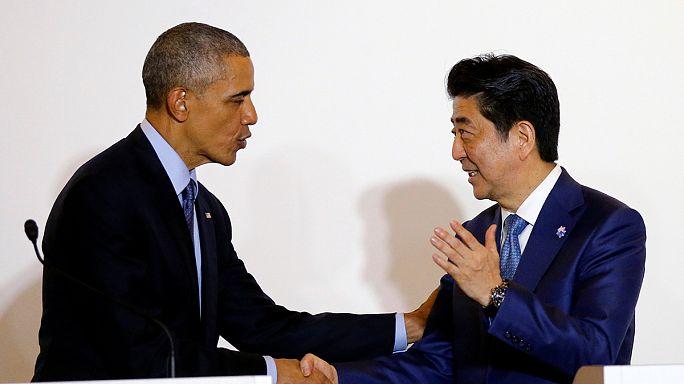 Obama in Giappone per il G7, proteste contro le basi USA