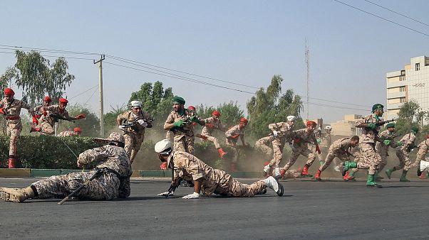 Image: Iran military parade attack