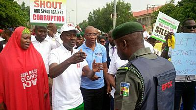 Nigeria's anti graft body march against corruption