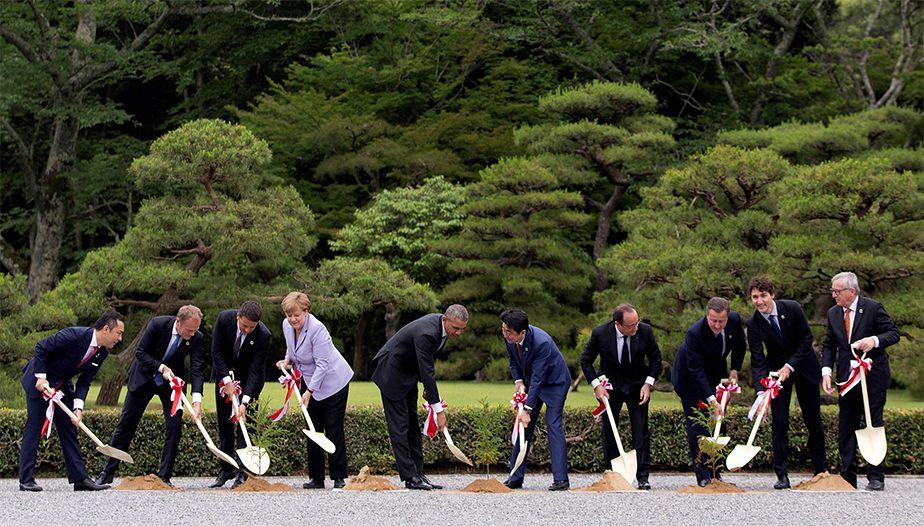 Les leaders du G7 ont la main verte