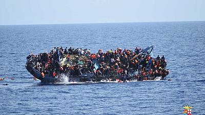 Migrant boat capsize off Libyan coast caught on camera