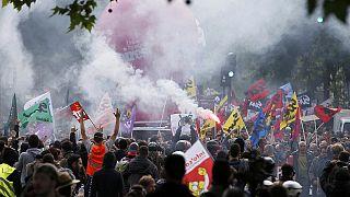 برگزاری راهپیمایی بزرگ در پاریس در ادامه اعتصابها و اعتراضات به اصلاح قانون کار