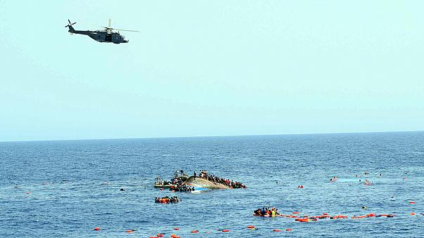 New video footage: overcrowded migrant boat capsizing