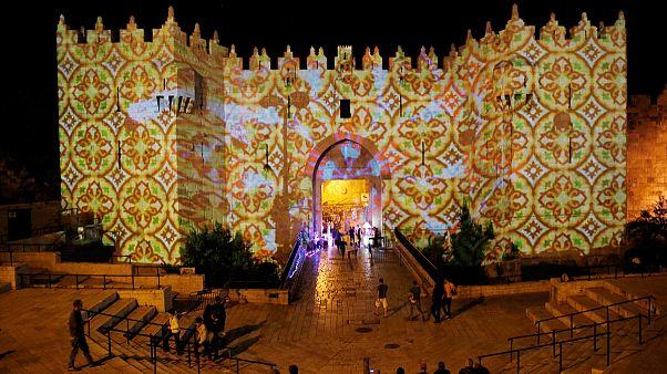 مدينة القدس المحتلة تحتفل بمهرجان الضوء