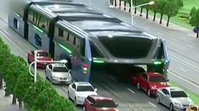 China's bus that drives over cars