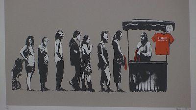 Banksy's work on display in Rome