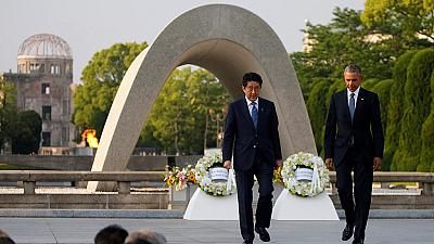 Barack Obama en visite au mémorial de la paix d'Hiroshima