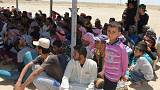 Fleeing Fallujah: hundreds leave but tens of thousands are trapped