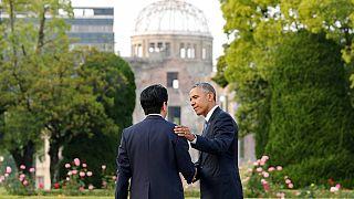Obama Hiroşima'da: Sevinç gösterisi ve protesto bir arada