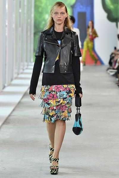 A model walks the runway at the Michael Kors Spring/Summer 2019 fashion show on Sept. 12.