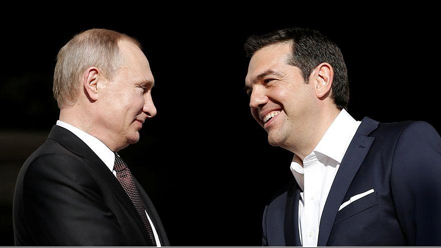 """Putin: """"A pesar de los tiempos difíciles, la cooperación greco-rusa avanza"""""""