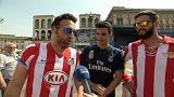 Milan envahie par les supporters du Real et de l'Atletico