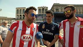 Friendly rivalry at Champions League final in Milan