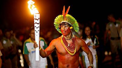 Olympic torch tours Brazil's Bahia state