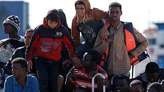 Italy: Rescued migrants arrive in Cagliari