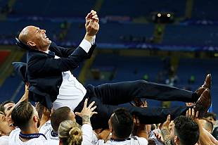 Zinedine Zidane's Real Madrid on top of the world