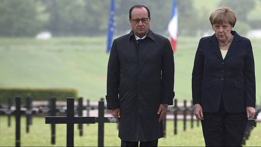 Hollande y Merkel conmemoran la batalla de Verdún