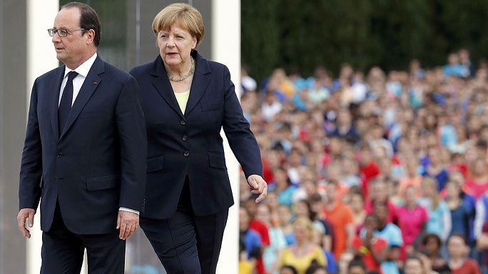 Merkel y Hollande insisten en la necesidad de una Europa unida