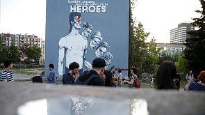 ادای احترام هنرمندان بوسنی به بویی با نقاشی دیواری