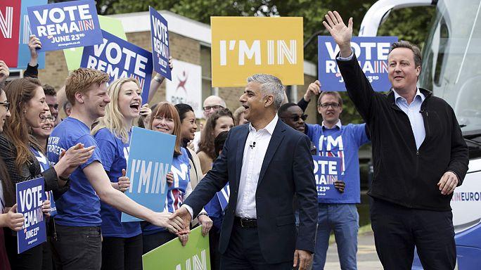 """Londra Belediye Başkanı Khan başbakanla birlikte halka seslendi: """"AB'de kalalım"""""""