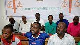 Somali Askeri Mahkemesi 10 sanığa ceza yağdırdı