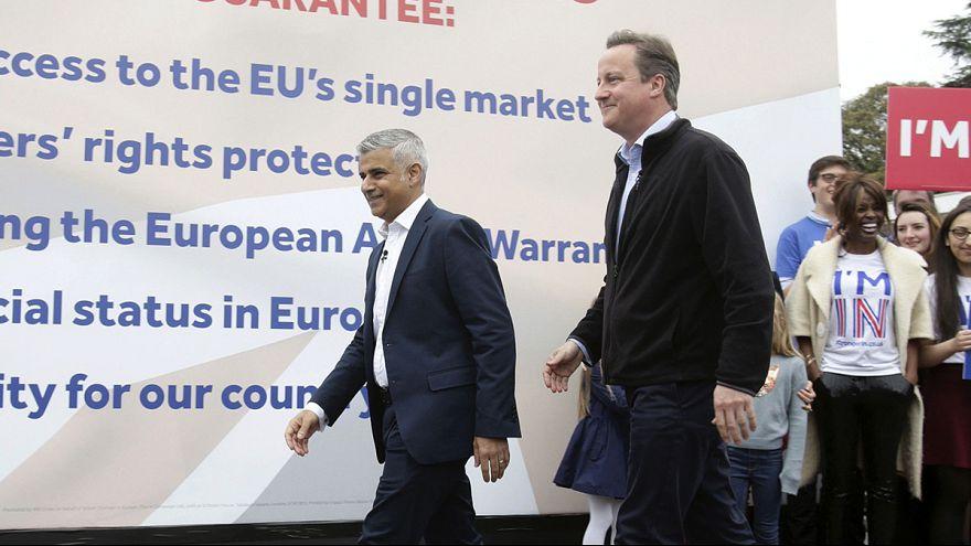 Cameron e Khan unem esforços no referendo britânico