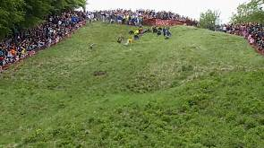 UK daredevils risk life and limb in cheese chase