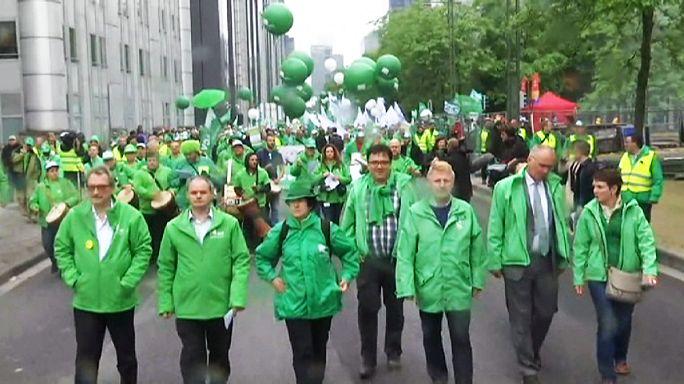 Országos sztrájk bénítja Belgiumot