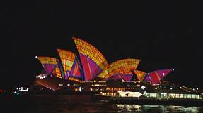 Sydney Opera House a cascade of colour for VIVID Light Festival