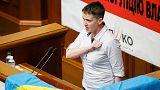 """Nadia Sávchenko, una """"heroína"""" ucraniana en la Rada Suprema"""