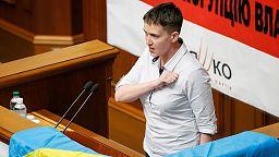 Freed Ukrainian pilot Savchenko addresses parliament as an MP
