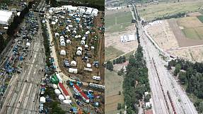 Idomeni: Before and after (photos)