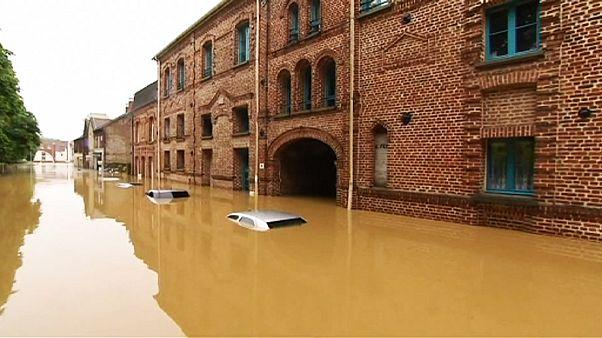 Überschwemmungen in Nord- und Zentralfrankreich