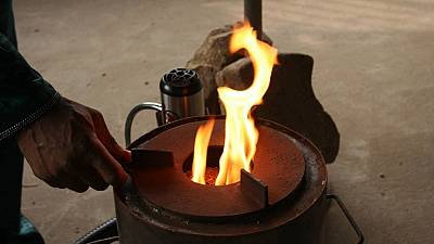 Benin innovative stove aids in clean rice waste burning