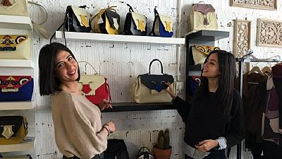 Egyptian sisters target global market with stylish bags