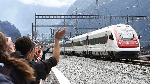 Les grandes étapes de la constrution du tunnel ferroviaire du Saint-Gothard