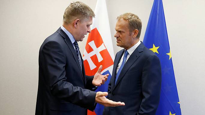 رئيس حكومة سلوفاكيا، روبرت فيتسو، في بروكسل ، تمهيدا لفترة رئاسة بلاده للإتحاد الأوروبي