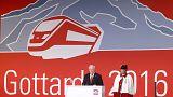 """Le nouveau tunnel du Gothard en Suisse, prodige technique et """"symbole de l'unité européenne"""""""