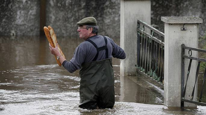 Torrential rain brings flooding from Paris to Prague