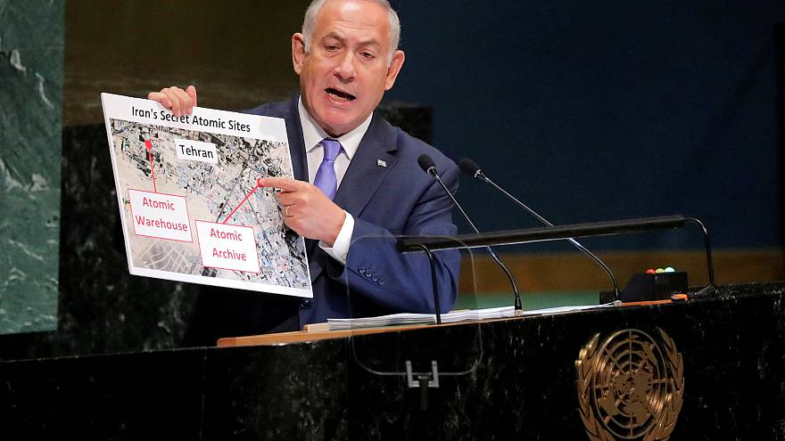 Israeli Prime Minister Benjamin Netanyahu Prime addresses the General Assem