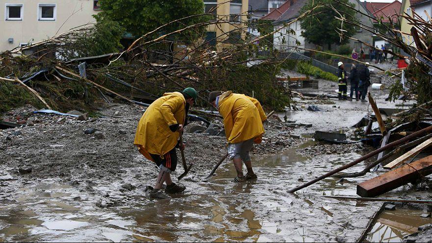 Panorama calamitoso en parte de Alemania y Francia debido a las inundaciones