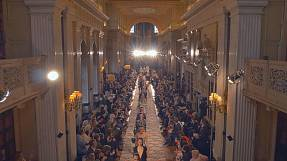 Dior cruises the catwalk at Blenheim Palace