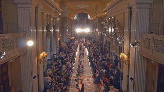 Dior cruises the catwalk at Blenheim Palace