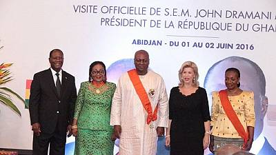 Ivory Coast honors Mahama with highest national award