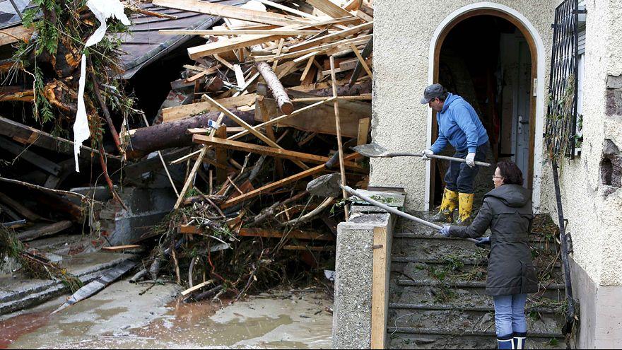Hochwasserkatastrophe: Land unter in Deutschland und Frankreich