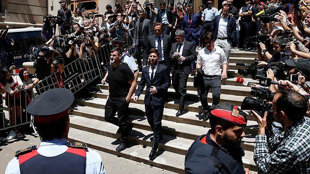 Messi először a bíróságon