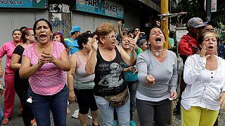 Az élelmiszerhiány ellen tiltakoztak Venezuelában
